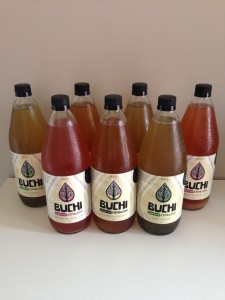 A range of the flavoured kombucha that Buchi produces. They are amazing! Made in Brisbane, Australia.